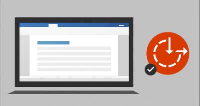 Ekran komputera z dokumentem po lewej stronie i wizualizacją ułatwień dostępu ze znacznikiem wyboru po prawej stronie